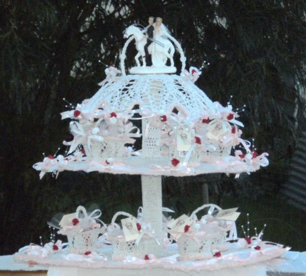 presentoir a dragee pour mariage fait au crochet - Prsentoir Drages Mariage